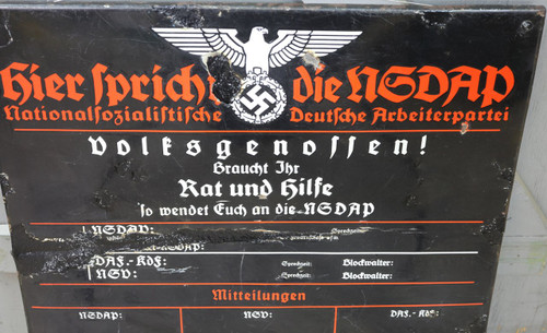 GERMAN NSDAP SIGN - C13787