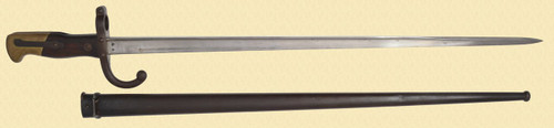 FRENCH GRAS M1874 BAYONET AND SCABBARD - C40558