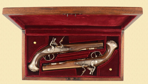 REPRODUCTION HAWKINS FLINTLOCK PISTOL SET - D11502
