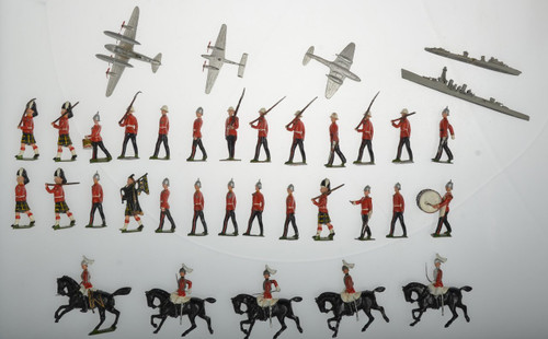 DIECAST SOLDIER, PLANE AND SHIP TOYS - C37075