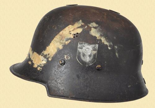 GERMANY POLICE HELMET DOUBLE DECAL W/LINER - C39781
