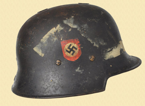 GERMANY POLICE HELMET DOUBLE DECAL W/LINER - C39781