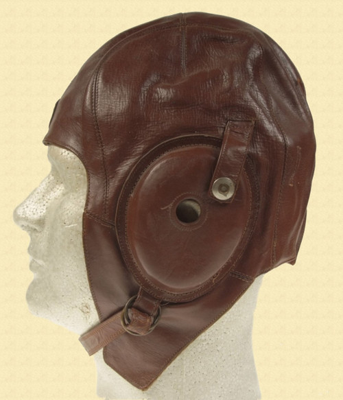 JAPANESE LEATHER FLIGHT HELMET - C12205