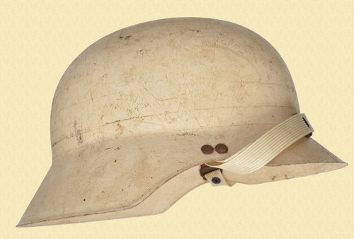 GERMAN WHITE FIBERGLASS HELMET - C41595