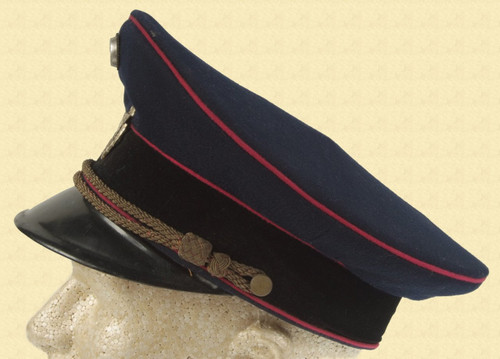 GERMAN WW2 FIRE POLICE VISOR HAT - M2726