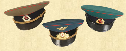 RUSSIAN OFFICERS CAPS (LOT OF 3) - C41606