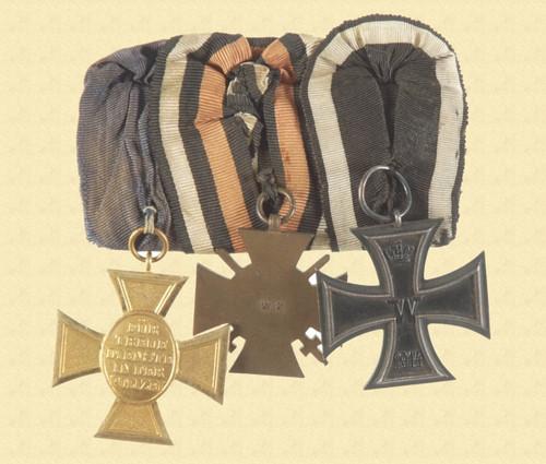 GERMAN WW1 VETERAN MEDALS - C10674