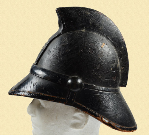 BRITISH LEATHER FIRE HELMET - C19015