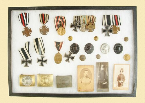 GERMAN WWI MEDALS/BUCKLES LOT - M4574