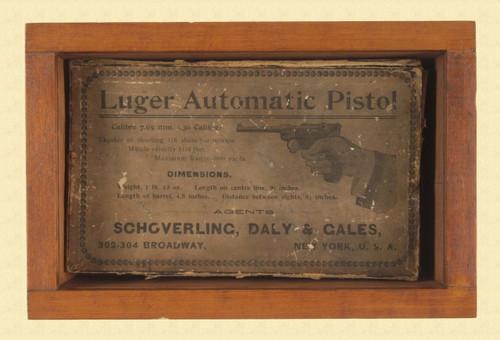 LUGER 1900 PISTOL BOX - M3486