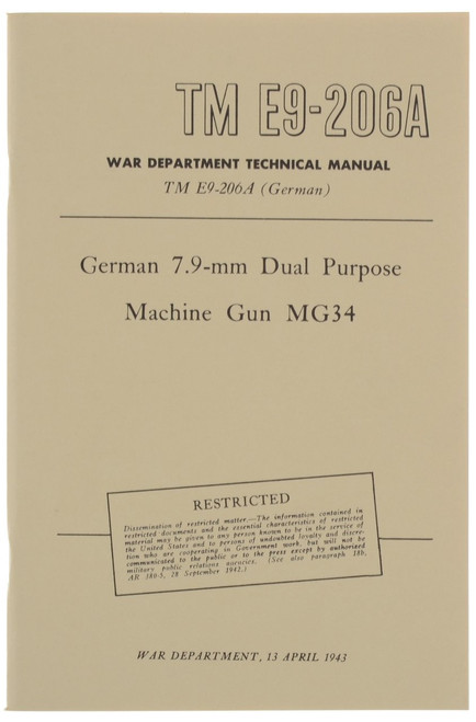 German 7.9-mm Dual Purpose Machine Gun MG34