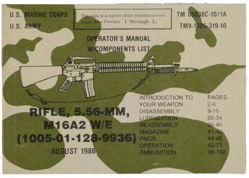 RIFLE, 5.56-mm, M16A2 W/E (1005-01-128-9936)