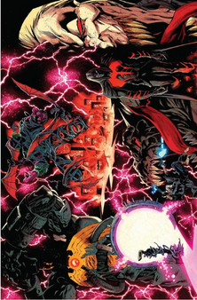 NOT A WRAP-AROUND COVER!  VENOM #25 2ND PTG STEGMAN VAR (07/15/2020)  (W) Donny Cates (A) Mark Bagley (CA) Ryan Stegman MARVEL COMICS  SPECIAL OVERSIZED 25th ISSUE! VENOM ISLAND FINALE! Caught between a Brock and a hard place! Eddie must make a life-altering decision. How does Eddie move on from the events of VENOM ISLAND? Rated T+