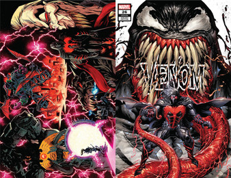 VENOM #25 2nd Print and Venom #26 2 PACK!  VENOM #25 2ND PTG STEGMAN VAR   (W) Donny Cates (A) Mark Bagley (CA) Ryan Stegman MARVEL COMICS  SPECIAL OVERSIZED 25th ISSUE! VENOM ISLAND FINALE! Caught between a Brock and a hard place! Eddie must make a life-altering decision. How does Eddie move on from the events of VENOM ISLAND? Rated T+  *All street dates and art are subject to change by publishers.  ICS TYLER KIRKHAM EXCLUSIVE VAR   (W) Cates, Donny (A) Bagley, Mark (C) Kirkham, Tyler MARVEL COMICS  'VENOM BEYOND' BEGINS HERE! If you thought VENOM ISLAND was insane comic book action of the highest order- then shut your yapper and face front- True Believer- because we're about to outdo ourselves! For months- the Maker has been fascinated with symbiotes. IN THIS ISSUE we find out why - and what he intends to do with any he can get his hands on… Rated T+