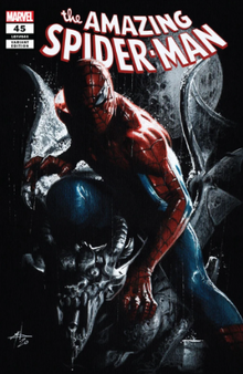 AMAZING SPIDER-MAN #45 UNKNOWN COMICS GABRIELE DELL'OTTO VAR   (W) Spencer, Nick (A) Ottley, Ryan (C) Dell'Otto, Gabriele MARVEL COMICS  'SINS RISING' PART 1! • SIN-EATER is back and New York City is in TROUBLE. • Who will the shotgun-toting villain target- and can Spider-Man stand a chance against him?