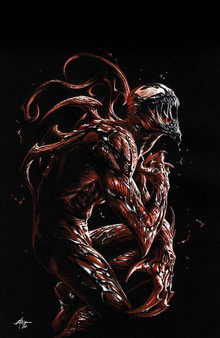 VENOM #27 UNKNOWN COMICS DELLOTTO EXCLUSIVE VAR  (W) Cates, Donny (A) Coello, Iban (C) Gabriele Dell'Otto MARVEL COMICS  When a new and dangerous foe erupts into Eddie Brock's life- it threatens to rip away everything Eddie holds dear. His son- his symbiote- even himself - EVERYTHING Eddie Brock loves is in jeopardy!  *All street dates and art are subject to change by publishers.