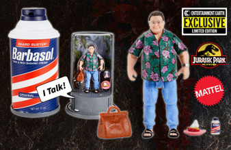 Jurassic Park Barbasol Dennis Nedry Action Figure - SDCC 2020 Convention Exclusive