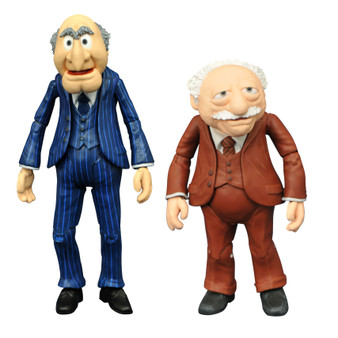 """MUPPETS BEST OF SERIES 2 DIAMOND SELECT TOYS LLC   A Diamond Select Toys release! A Diamond Select Toys release! It's time to light the lights! The Best of the Muppets action figure line continues, making classic characters available once again! Best of Muppets Series 2 features Statler with Waldorf, Bunsen with Beaker, and the Swedish Chef with his kitchen supplies! Each set features accessories, and each figure features multiple points of articulation. All are in scale to 7-inch human action figures, with heights ranging from 3 to 5 inches.   Series 2 includes Animal with drum kit, Bunsen Honeydew & Beaker, and Statler & Waldorf with balcony In scale to other Select action figures Figures stand 3""""-5"""" inches tall Packaged in display-ready Select figure packaging Sculpted by Gentle Giant Studios"""