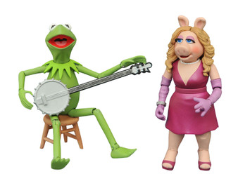 MUPPETS BEST OF SERIES 1 DIAMOND SELECT TOYS LLC Product Description  It's time to get things started! DST is relaunching their Muppets line, making the beloved classic characters available once again! This Best of Muppets Series two-pack features Kermit with Piggy and includes character specific accessories. All of the figures in the series features multiple points of articulation and are in scale to 7 inch human action figures, ranging in height from 3-5 inches each.  Product Features Ranging from 3-5 inches (7.62-12.7cm) tall Made of plastic Based on characters from The Muppets Feature multiple points of articulation Includes character specific accessories Box Contents Kermit figure Piggy figure