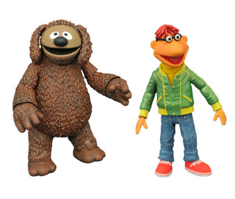 Product Description It's time to get things started! DST is relaunching their Muppets line, making the beloved classic characters available once again! This Best of Muppets Series two-pack features Scooter with Rowlf and includes character specific accessories. All of the figures in the series features multiple points of articulation and are in scale to 7 inch human action figures, ranging in height from 3-5 inches each.  Product Features Ranging from 3-5 inches (7.62-12.7cm) tall Made of plastic Based on characters from The Muppets Feature multiple points of articulation Includes character specific accessories Box Contents Scooter figure Rowlf figure