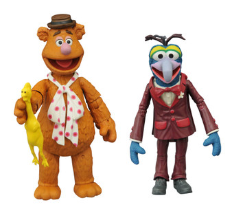 MUPPETS BEST OF SERIES 1 DIAMOND SELECT TOYS LLC Product Description  It's time to get things started! DST is relaunching their Muppets line, making the beloved classic characters available once again! This Best of Muppets Series two-pack features Gonzo with Fozzie and includes character specific accessories. All of the figures in the series features multiple points of articulation and are in scale to 7 inch human action figures, ranging in height from 3-5 inches each.  Product Features Ranging from 3-5 inches (7.62-12.7cm) tall Made of plastic Based on characters from The Muppets Feature multiple points of articulation Includes character specific accessories Box Contents Gonzo figure Fozzie figure