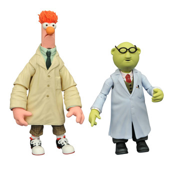 Product Description It's time to get things started! DST is relaunching their Muppets line, making the beloved classic characters available once again! This Best of Muppets Series two-pack features Bunsen with Beaker and includes character specific accessories. All of the figures in the series features multiple points of articulation and are in scale to 7 inch human action figures, ranging in height from 3-5 inches each.  Product Features Ranging from 3-5 inches (7.62-12.7cm) tall Made of plastic Based on characters from The Muppets Feature multiple points of articulation Includes character specific accessories Box Contents Bunsen figure Beaker figure