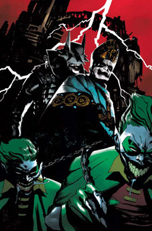Dark Knights: Death Metal – Band Edition – Turkish Variants  In anticipation of the international launch of DC's runaway 2020 hit limited series,Dark Nights: Death Metal, the publisher announced today plans to collaborate with seven of the most renowned metal music bands forDark Nights: Death Metal – Band Edition.  Representing a cross-section of metal music from across genres and generations, each special edition will feature a variant cover spotlighting a different metal band, an introduction from the band and exclusive interview. The lineup includes:  Issue #2:Featured band:Ghost Cover artist:Werther Dell' Edera  Please note that due to international shipping and printing release of these books is not expected until August, 2021. This is a pre-order for the Turkish version of these variants. Turkish books have a slightly smaller printing size than US books, as pictured. Issue #7:Featured band:Ozzy Osbourne Cover artist:Marco Mastrazzo  Please note that due to international shipping and printing release of these books is not expected until August, 2021. This is a pre-order for the Turkish version of these variants. Turkish books have a slightly smaller printing size than US books, as pictured.