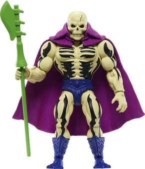 MOTU ORIGINS SCARE GLOW ACTION FIGURE MATTEL TOYS   It's a thrilling time to be aMasters of the Universefan! For longtime fans and for a new generation of kids who love action and adventure, it's time to discover the thrilling action and adventures ofHe-Man, Skeletor,the secrets ofCastle Grayskulland so much more! The figures in this collection stand 5.5 inches tall and have 16 moveable joints so they're highly poseable for imaginative and action-oriented fun,Masters of the Universestyle! Longtime fans will appreciate both the vintage design details that honor the heritage of this beloved adventure franchise and the design updates that add an exciting look to the future. Each figure comes with a mini comic book that explores new story lines and introduces heroes, villains and allies in the timeless battle between good and evil! Aficionados will love the classically stylized retro-Packaging. Keep an eye out for new characters to come, and curate a collection to play with and trade.