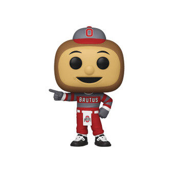 """POP COLLEGE UNIVERSITY OF OHIO BRUTUS BUCKEYE FUNKO   From Funko.Show your Team Spirit with Funko College Mascots! CollectBrutus Buckeye, Bucky Badger, Hairy Dawg,and the Notre DameLeprechaun! Each Pop! figure stands about 3 3/4"""" tall and come in a window box for display."""