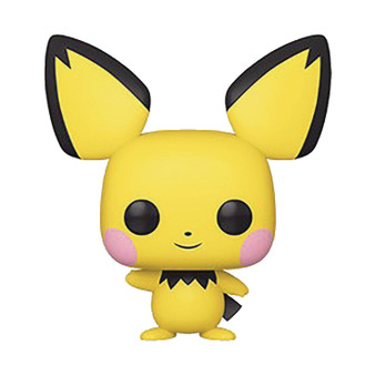 """POP GAMES POKEMON S2 PICHU FUNKO   From Funko. Grow your pokédex with the latest additions to Funko's POP! Pokémon line-up!Vulpix, MewTwo, Mr. Mime,andPichueach measures about 4"""" tall and comes in a window box for easy display!"""