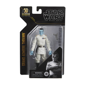 """STAR WARS BLACK SERIES ARCHIVES 6IN GRAND ADMIRAL THRAWN HASBRO TOY GROUP   From Hasbro Toy Group.The most epic figures fromStar WarsThe Black Series are back with the Black Series Archive Collection!Thrawnwas a male Chiss, known for his brilliant strategic mind and ruthlessness, he was determined to """"pull the Rebels apart piece by piece"""" for the Empire. ThisStar WarsThe Black Series action figure comes with a Grand AdmiralThrawn-inspired accessory that makes a great addition to anyStar Warscollection!"""