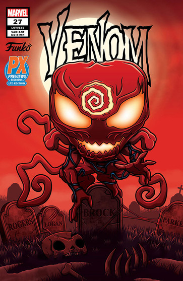 VENOM #27 - CARNAGE FUNKO POP! INCENTIVE  MARVEL COMICS (W) Donny Cates (A) Juan Gedeon (CA) Ryan Stegman When a new and dangerous foe erupts into Eddie Brock's life, it threatens to rip away everything Eddie holds dear. His son, his symbiote, even himself - EVERYTHING Eddie Brock loves is in jeopardy!