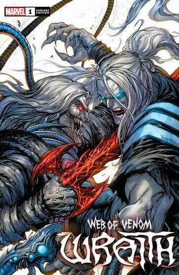 WEB OF VENOM WRAITH #1  MARVEL COMICS  (W) Donny Cates (A) Guiu Villanova (CA) Tyler Kirkham  • Since his appearance in GUARDIANS OF THE GALAXY- one thing WRAITH has made perfectly clear is that he's hunting KNULL- the God of the Symbiotes. • Now- in the wastelands on the outskirts of the cosmos- he'll have his chance to face him… Rated T+  *All street dates and art are subject to change by publishers.  *We guarantee 9.2+ condition of book unless otherwise stated. We can not guarantee 9.8 grades on raw books