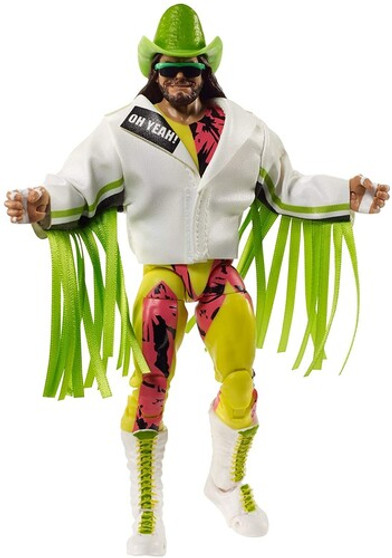 """WWE Ultimate Edition Randy """"Macho Man"""" Savage  It's the ultimate action figure of WWE® """"Macho Man"""" Randy Savage® with extra heads, swappable hands, and authentic entrance gear! Featuring TrueFX™ life-like detailing and more than 30 points of articulation, The Ultimate Macho Man figure (approx. 6-in / 15.24-cm) lets collectors and kids recreate everything from entrance poses to in-ring finishers for the ultimate WWE® play-and-display experience. Oooh yeah! Colors and decorations may vary."""