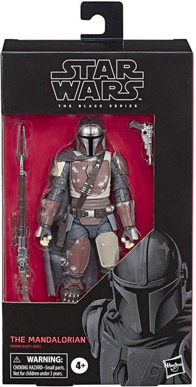 """Star Wars: The Mandalorian Black Series 6"""" Mandalorian $28.99 Brand Hasbro This product is sold out  The Black Series Star Wars The Mandalorian.  The Mandalorian. His body is shielded by beskar armor, his face is hidden behind a T-visored mask, and his past is wrapped in mystery.  The Mandalorian is battle-worn and tight-lipped, a formidable bounty hunter in an increasingly dangerous galaxy.  Detailed 6-inch Mandalorian from Star Wars: The Mandalorian Includes character-inspired accessory Expand and enhance Star Wars collection (Additional products sold separately) Includes figure and accessory #94"""