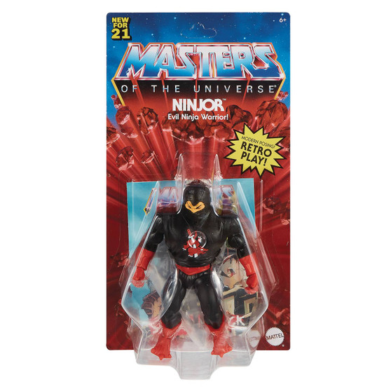MOTU ORIGINS NINJOR ACTION FIGURE MATTEL TOYS   It's a thrilling time to be aMasters of the Universefan! For longtime fans and for a new generation of kids who love action and adventure, it's time to discover the thrilling action and adventures ofHe-Man, Skeletor,the secrets ofCastle Grayskulland so much more! The figures in this collection stand 5.5 inches tall and have 16 moveable joints so they're highly poseable for imaginative and action-oriented fun,Masters of the Universestyle! Longtime fans will appreciate both the vintage design details that honor the heritage of this beloved adventure franchise and the design updates that add an exciting look to the future. Each figure comes with a mini comic book that explores new story lines and introduces heroes, villains and allies in the timeless battle between good and evil! Aficionados will love the classically stylized retro-Packaging. Keep an eye out for new characters to come, and curate a collection to play with and trade.