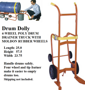 drum dolly 4 wheel drum dolly