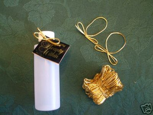 Gold cord, elastic gold cord, elastic cord with pre-tied bow, Decorative Stretchy Gold Metallic Band with Bow