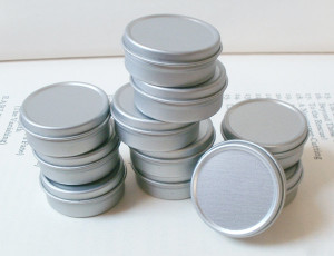 Metal Tins .5 Oz With Lid