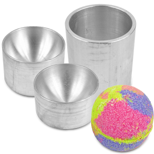 Bath Bomb Mold Aluminum Bath Bomb Mold 2 1/2 inch bath bomb mold for pneumatic bath bomb press