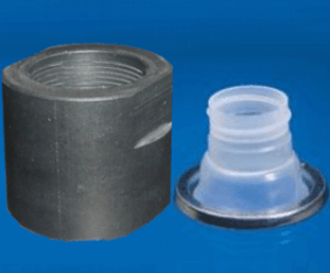 Adapter for GoatThroat Pump for Gray Rieke pull out lid
