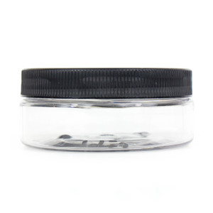 4 Oz PET Low-Profile Clear Jar