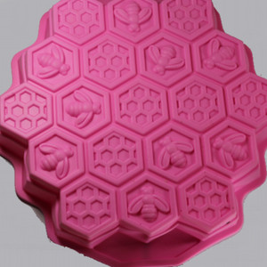 Large Bee Hive Silicone Soap Mold Outside