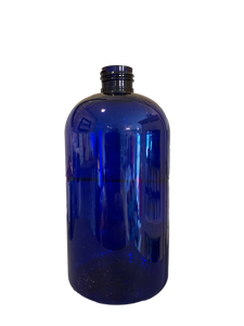 16 oz bottle Blue Boston Round