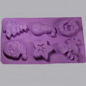 Christmas Silicone Soap Mold Outside