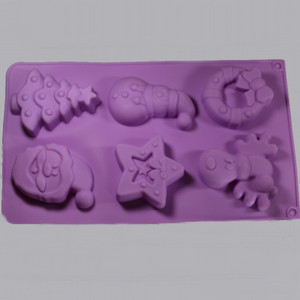 Christmas Silicone Soap Mold Outside