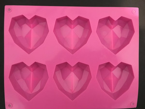 Silicone Crystal Heart Mold