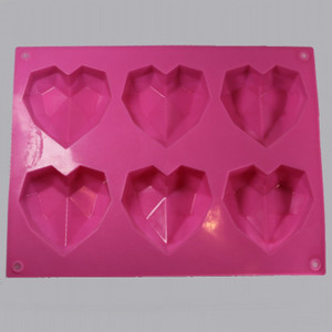 Silicone Crystal Heart Mold Inside
