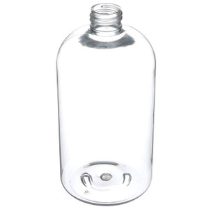 16 Oz Clear PET Boston Round Bottle