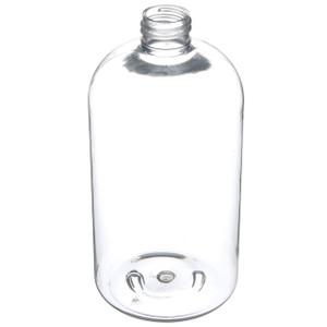 16 Oz Clear PET Boston Round Bottle